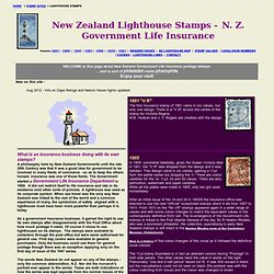 New Zealand Lighthouse Stamps