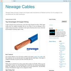 Newage Cables: Top Advantages Of Copper Wiring