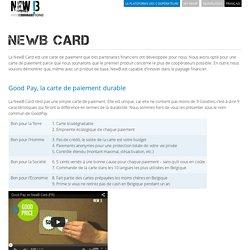 Good Pay, la carte de paiement durable de NewB