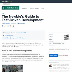 The Newbie's Guide to Test-Driven Development