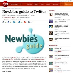 Newbie's guide to Twitter