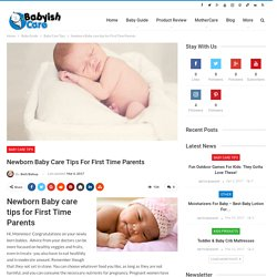 Newborn Baby care tips for First Time Parents