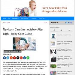 Newborn Care Immediately After Birth