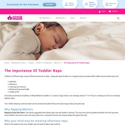 The Importance Of Toddler Naps