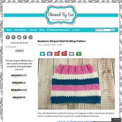 Newborn Striped Skirt Knitting Pattern