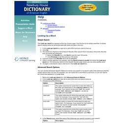 s Newbury House Dictionary of American English
