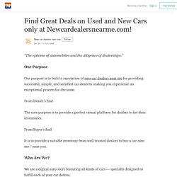 Find Great Deals on Used and New Cars only at Newcarsdealersnearme.com! - Medium