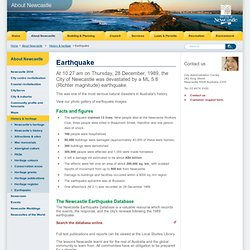 Newcastle City Council - Earthquake