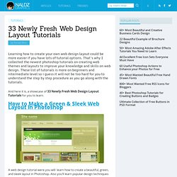 33 Newly Fresh Web Design Layout Tutorials