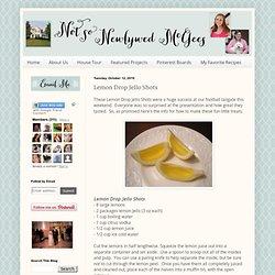 how to make lemon drop jello shots