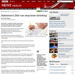 Alzheimer's: Diet 'can stop brain shrinking'