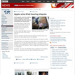 Apple wins iPod hearing dispute