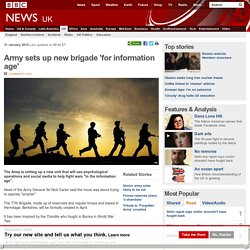 Army sets up new brigade 'for information age'