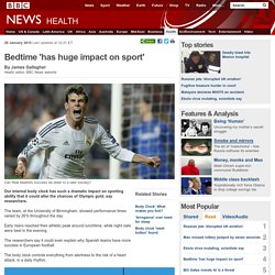 Bedtime 'has huge impact on sport'