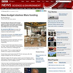 Nasa budget slashes Martian funds