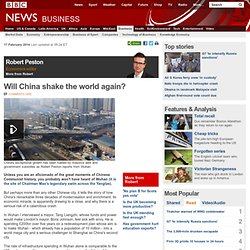Will China shake the world again?