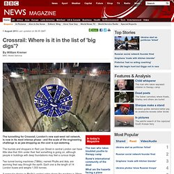Crossrail: Where is it in the list of 'big digs'?