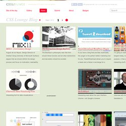 news « CSS Lounge ⊗ CSS Gallery