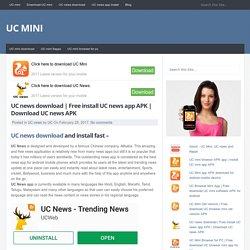 Free install UC news app APK