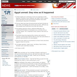 Egypt unrest: Day nine as it happened