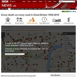 Every death on every road in Great Britain 1999-2010