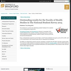 Outstanding results in The National Student Survey 2015