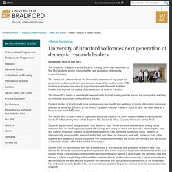 University of Bradford welcomes next generation of dementia research leaders