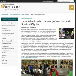 Sport Rehabilitation students get hands-on at the Bradford City Run