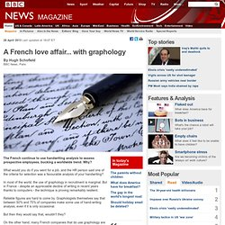 A French love affair... with graphology