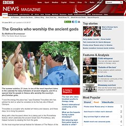 The Greeks who worship the ancient gods