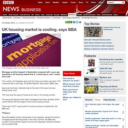 UK housing market is cooling, says BBA
