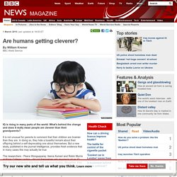 Are humans getting cleverer?