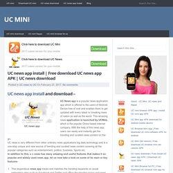 Free download UC news app APK
