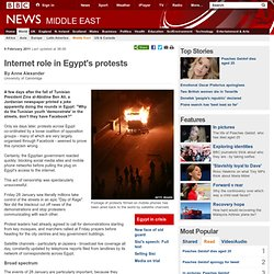 Internet role in Egypt's protests