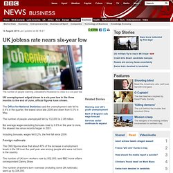 UK jobless rate nears six-year low