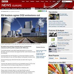 EU leaders agree CO2 emissions cut