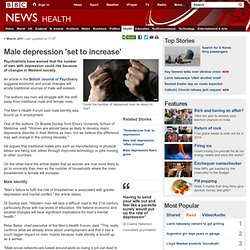 Male depression 'set to increase'