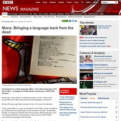 Manx: Bringing a language back from the dead