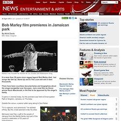 Bob Marley film premieres in Jamaican park