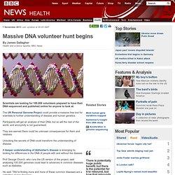 Massive DNA volunteer hunt begins
