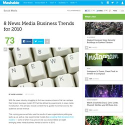 8 News Media Business Trends for 2010