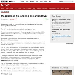 Megaupload file-sharing site shut down, founders charged