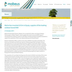 News - Mobeus Equity Partners