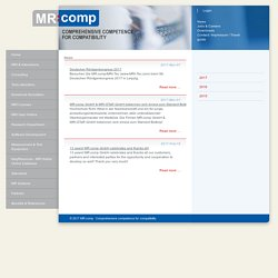 News - MR:comp GmbH