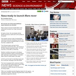 Nasa ready to launch Mars rover
