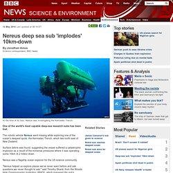 Nereus deep sea sub 'implodes' 10km-down