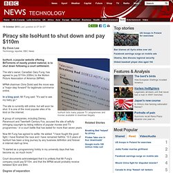 Piracy site IsoHunt to shut down and pay $110m