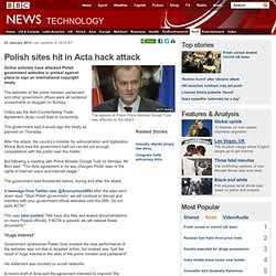 Polish sites hit in Acta hack attack