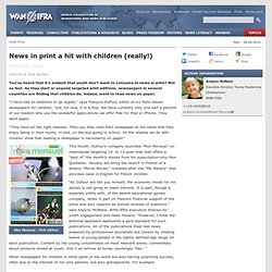 News in print a hit with children (really!)