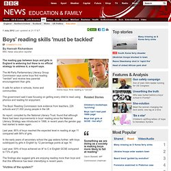 Boys' reading skills 'must be tackled'